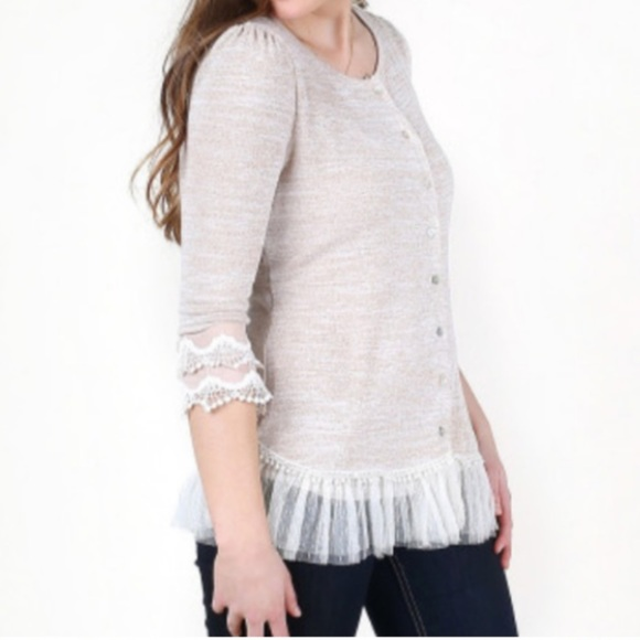 Altar'd State Tulle Linen Cardigan